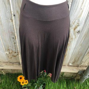 Old Navy Skirts - Old Navy Straight Brown Flowy Pleated Midi Skirt